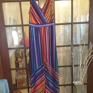 Beautiful multi-color maxi dress